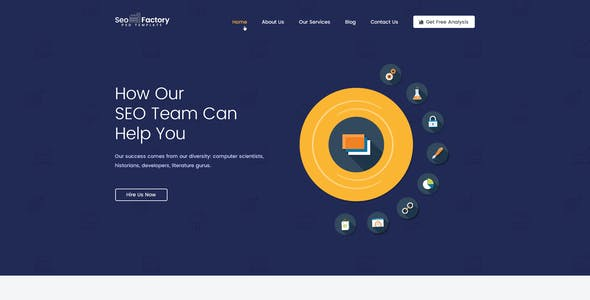 SEO Factory - Digital Marketing Agency HTML Template