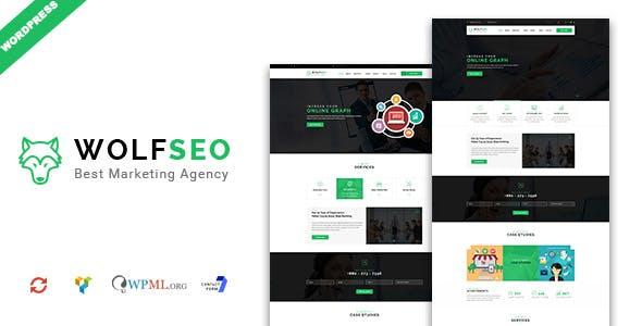 WOLFSEO - Digital Marketing Agency WordPress Theme