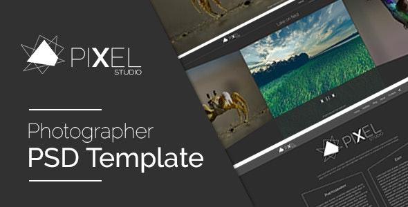 Pixel Studio - PSD Template - Photography Creative