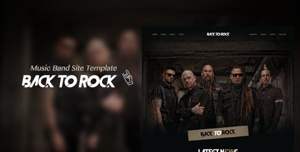 Back to Rock - Creative Music Band Website Template