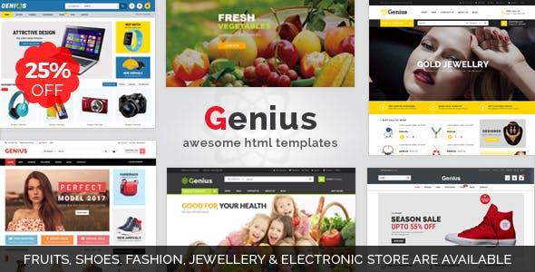 Genius | Organic, Fashion, Jewellery & Electronics Store Responsive HTML5 Template