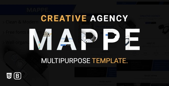 Mappe - Creative Agency Bootstrap Html Template - Creative Site Templates