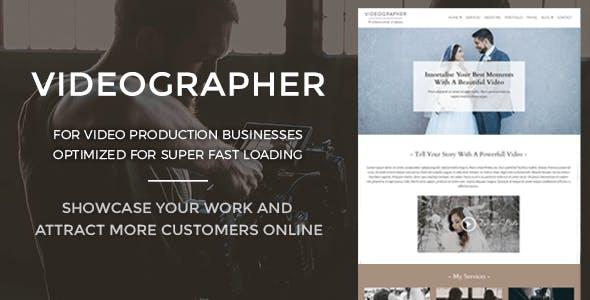 Videographer - Video Production WordPress Theme