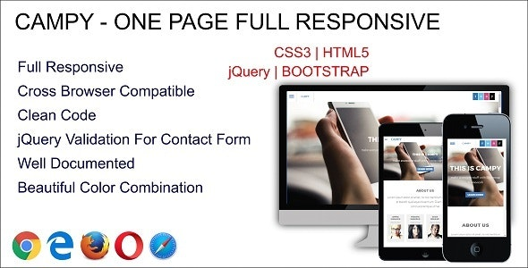 Campy - One Page Multipurpose - Site Templates