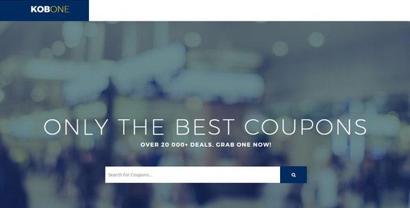 KOBONE – Coupons, Deals, Discounts, Voucher Codes & Affiliate Marketing Template - Corporate Site Templates