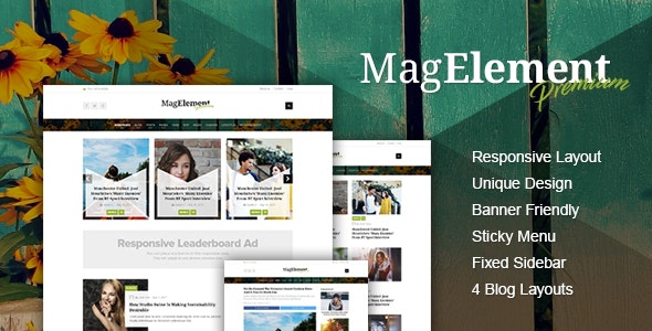 MagElement - Fresh & Modern Magazine HTML Template - Entertainment Site Templates