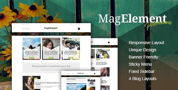 MagElement - Fresh & Modern Magazine HTML Template