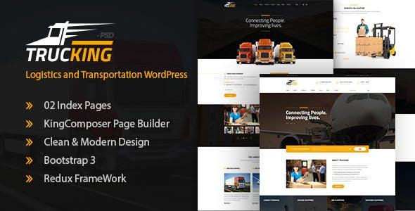 Trucking - Logistics and Transportation WordPress Theme