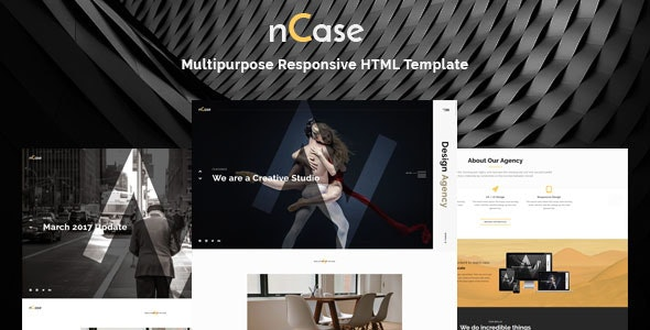 Ncase - One Page Multipurpose Responsive HTML Template - Creative Site Templates