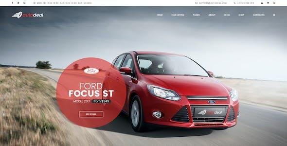 AutoDeal - Car Retail PSD template