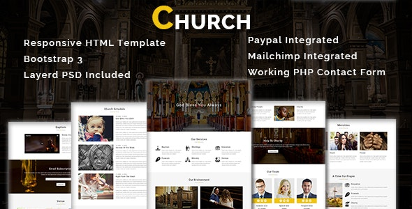 CHURCH - Multipurpose Responsive HTML Template - Nonprofit Site Templates