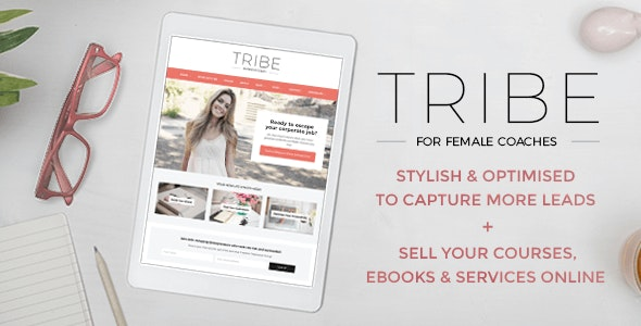 Tribe - Feminine Coach WordPress Theme - Personal Blog / Magazine