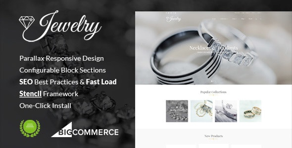 Jewelry Responsive Parallax BigCommerce Theme - Stencil Framework - BigCommerce eCommerce
