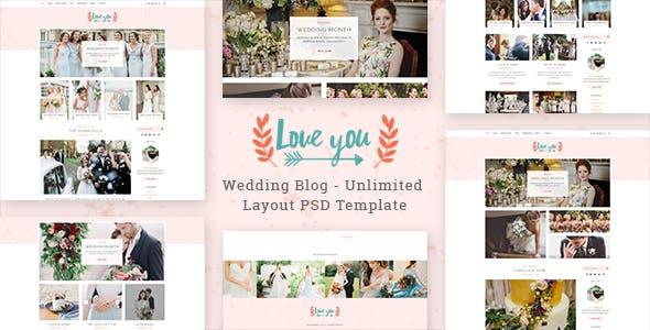 Love You - Wedding Blog PSD Template