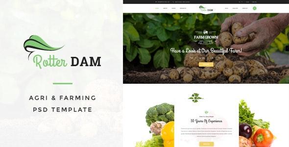 Rotterdam - Agri & Farming PSD Template - Business Corporate