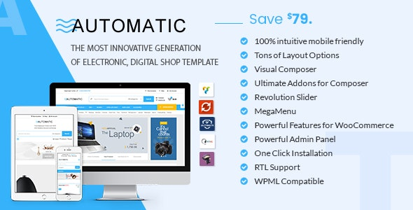 Automatic - WooCommerce Theme for Electronic, Computer, Digital Store - WooCommerce eCommerce