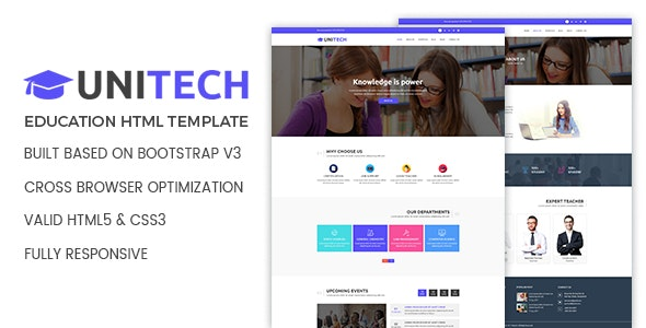 Unitech - Education HTML Template - Charity Nonprofit