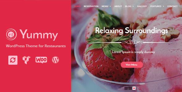 Yummy - Restaurant & Food Ordering WordPress Theme + WooCommerce