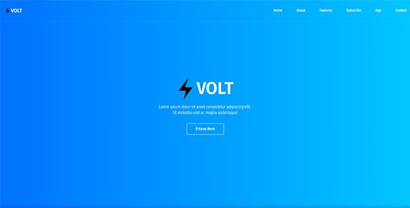 Volt - Responsive App & Software Template - Technology Site Templates