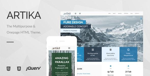Artika - Multipurpose & Onepage HTML Template - Business Corporate