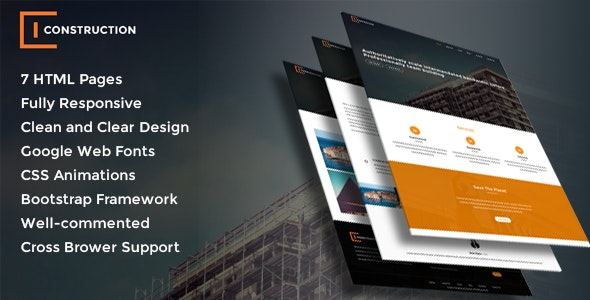 Builders & Construction HTML Bootstrap Template