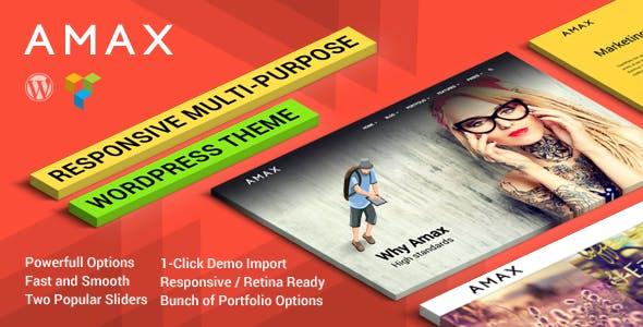 Amax — Responsive Multi-Purpose WordPress Theme