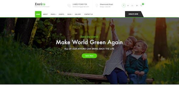 Enviro - Environment & Non-Profit PSD Template