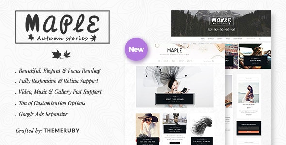 Maple - Responsive WordPress Blog Theme - Personal Blog / Magazine