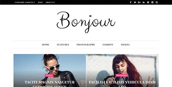 Bonjour - A Perfect WordPress Magazine and Blog Theme - News / Editorial Blog / Magazine
