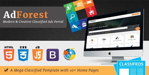 AdForest - Largest Classified Marketplace Ads Template + RTL - Business Corporate
