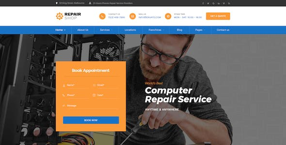 Repair Shop - Mobile & Gadget Repairing PSD Template