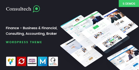 Consultech - Finance & Consulting Business WordPress Theme - Business Corporate