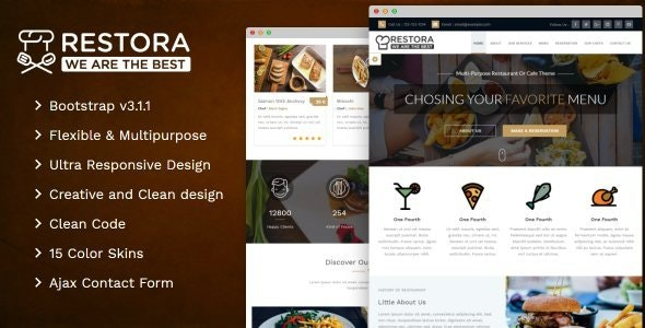 Restora - Restaurant Template - Restaurants & Cafes Entertainment