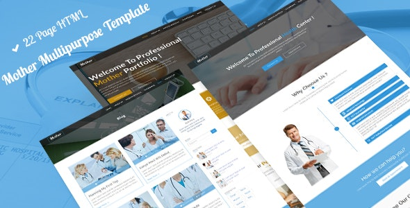 Mother MultiPurpose | Business, Medical, Construction, Portfolio, Dental HTML-5 Template - Corporate Site Templates