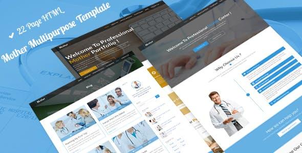 Mother MultiPurpose | Business, Medical, Construction, Portfolio, Dental HTML-5 Template
