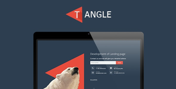 T-Angle - landing page template - Marketing Corporate