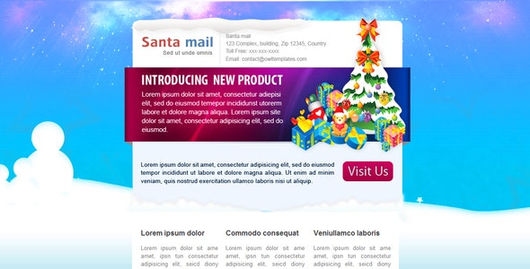 SantaMail - Newsletter - Email Template - Newsletters Email Templates