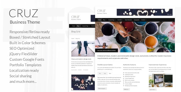 Cruz – Modern Business Wordpress - Business Corporate