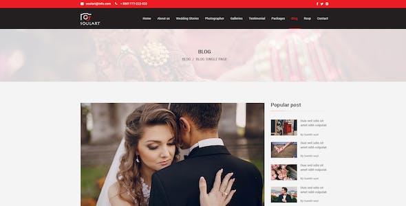 Soulart Wedding Planner & Photography PSD Template