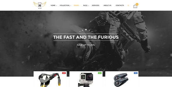 Motor Vehikal - Motorcycle Online Store HTML Template