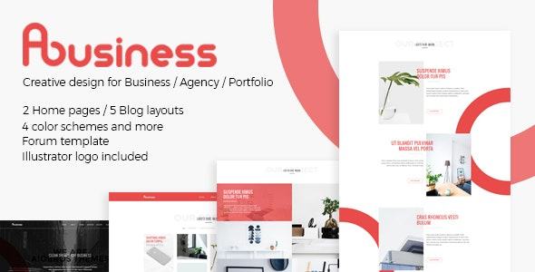 ABusiness PSD Template - Business Corporate