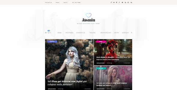 Jasmin - A Viral Magazine & Blog Template