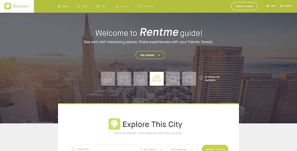 Rentme - Directory & Listings Multipurpose WordPress Theme