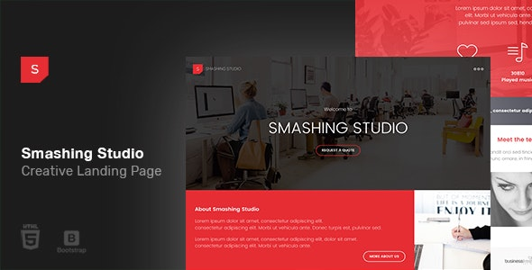 Smashing Studio Landing Page - Creative Site Templates
