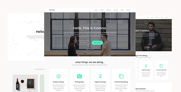 Corona - Creative Portfolio HTML Template - Creative Site Templates