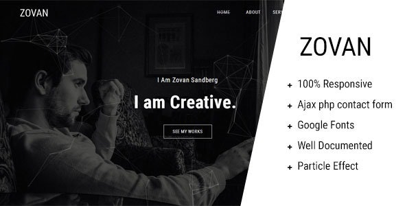 Zovan - Personal Portfolio Template - Personal Site Templates