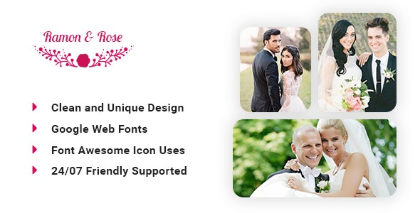 Ramon & Rose - Wedding event template - Personal Photoshop