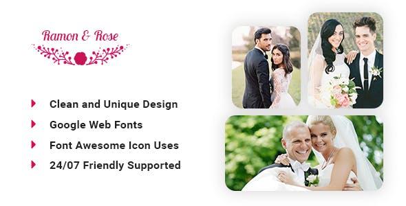 Ramon & Rose - Wedding event template