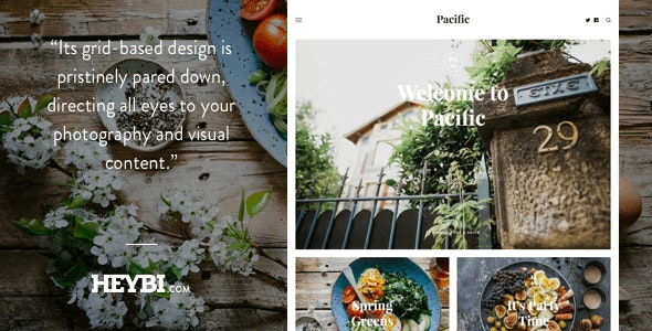 Pacific: Big Bold Photo-Based Theme - Ghost Themes Blogging