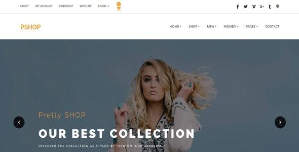 PrettyShop - Responsive Bootstrap eCommerce Template - Retail Site Templates